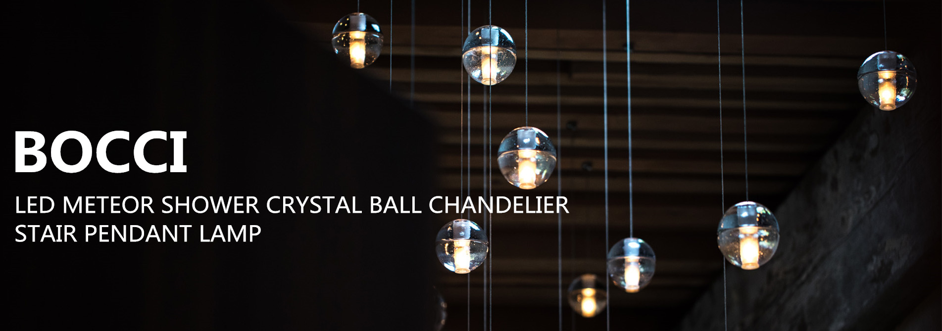 BOCCI LED METEOR SHOWER CRYSTAL BALL CHANDELIER