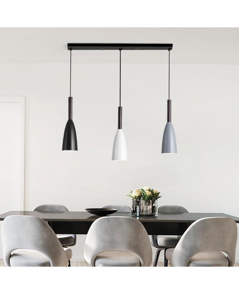 Modern 3 Pendant Lighting Nordic Minimalist Pendant Lights Over Dining Table Kitchen Island Hanging Lamps Dining