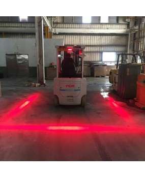 30W Red Line LED Forklift Truck Warning Lamp Safety Working Flood Light Bar IP67