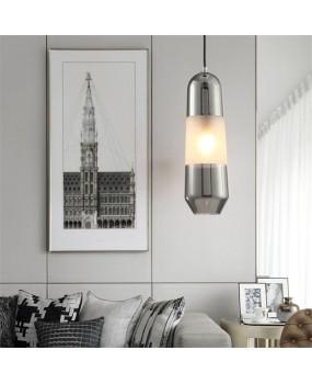 Modern creative restaurant long glass Pendant lamp hotel room bedside lamp bar Pendant light AC110-240V