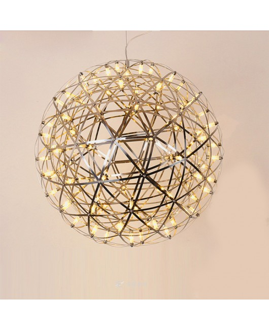 Living room pendant lamp light stainless steel ball led chandelier firework light restaurant villa hotel project pendant lighting