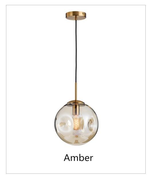 Luxury bump glass ball bedroom chandelier art restaurant living room chandelier