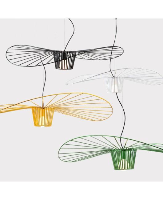 Straw hat chandelier designer living room simple creative restaurant lighting