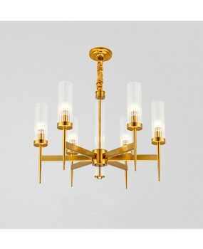 Golden Luxury Chandelier Glass Bedroom Bedside Lamp Living Room Bedroom Restaurant Hotel Lamp Chandelier