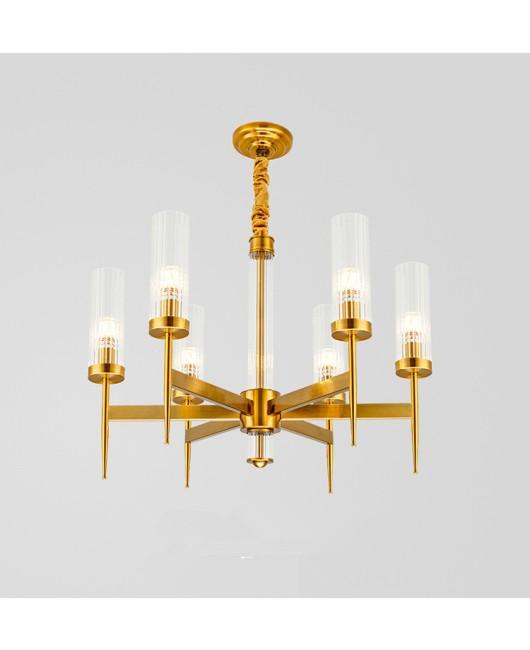 Golden Luxury Chandelier Glass Bedroom Bedside Lamp Living Room Bedroom Restaurant Hotel Lamp Chandelier