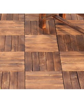 Outdoor carbonized wood outdoor mosaic floor terrace garden balcony courtyard bathroom environmental protection wood solid wood flooring