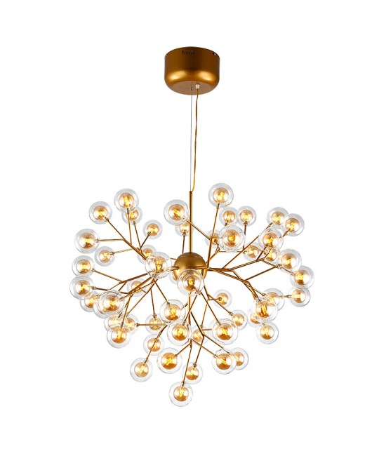 Firefly chandelier branches LED glass bulb ball chandelier