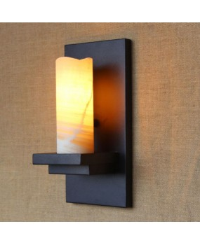 Artificial Marble Candle Lampshade Sconce Iron Wall Lamp Wall Lighting Fixtures