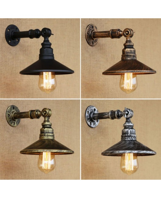 Loft 4 Color Iron Rust Steampunk Pipe Wall Lamp Sconce Lights Lighting Fixtures