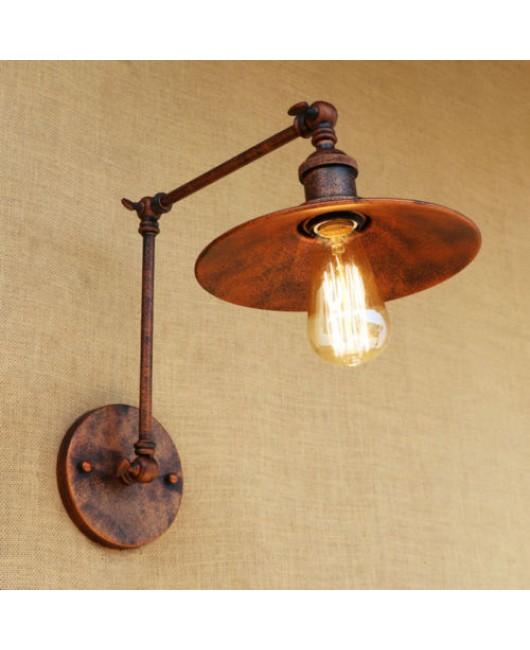 Metal 4 Sizes Wall Lamp Adjustable Arm Iron Lampshade Lights Lighting Fixtures