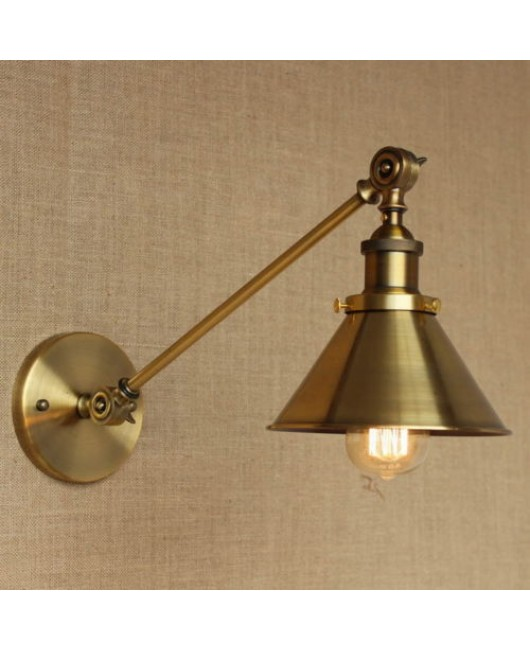 Antique Gold Long Swing Arm Wall Lamp Illumination Sconce Light Lighting Fixture