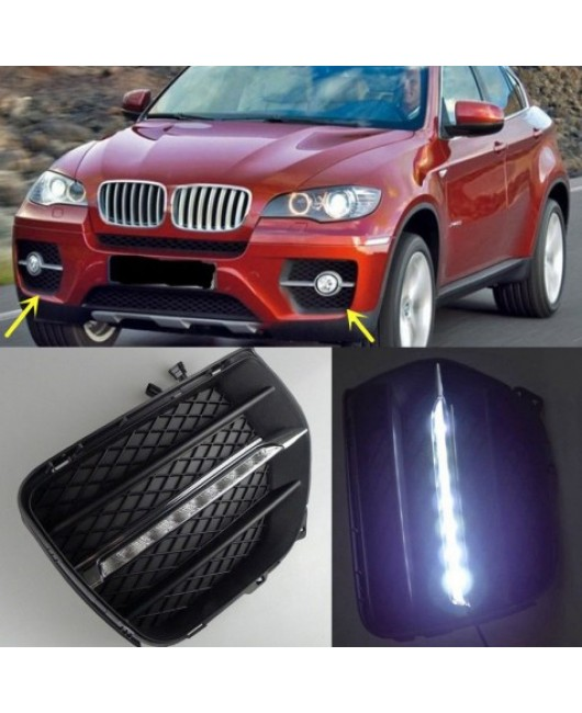 BMW X6 2008-2013 LED Daytime Running Lights DRL LED Fog Lamp