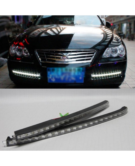 2x White LED Daytime Day Fog Light DRL Run lamp For Toyota REIZ Mark X 2005-2009