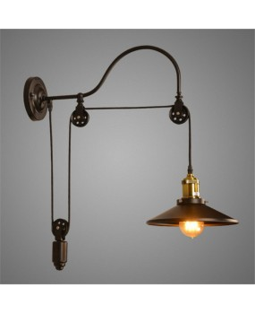 Lifting American Wall Lamps Vintage Restaurant Iron Living Room Lights Creative Loft Cafe Wall Lights AC110-240V