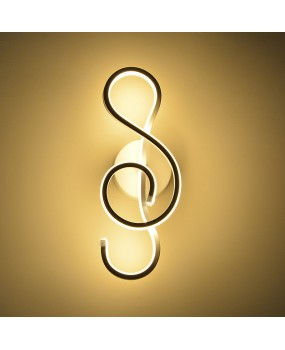 Musical Symbols 22W LED Modern Wall Lamp Wall Sconce Bedroom Bedside Lamp Fixture Lighting Decor