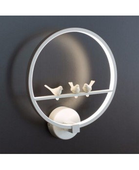 Black/White Led Wall sconce Bedside Reading Lamp With Birds Bedroom lighting