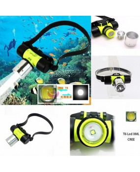 Waterproof underwater 1800Lm XM-L CREE T6 LED Swimming diving Headlamp Headlight Dive Head Light flashlight Head torc