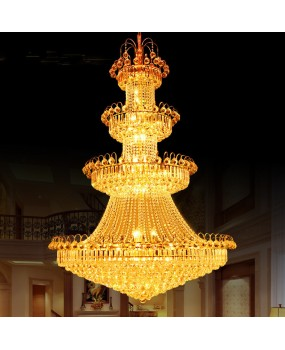 European LED Crystal Chandelier living room villa lobby ceiling light