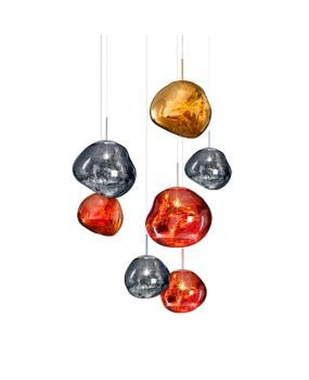 Tom Dixon Modern Melt Pendant Lights PVC Lava Irregular Hang Lamp for Living Room Bedroom Lamp Restaurant Home Lighting