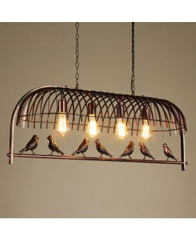 Bird cage restaurant cafe bar desk study chandelier retro bird balcony chandelier