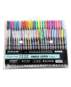 48 Gel Pens set Color gel pens Glitter Metallic pens Good gift For Coloring Kids Sketching Painting Drawing