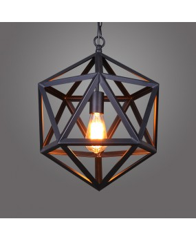 RH Lighting Restoration Hardware Vintage Pendant Lamp RH Loft Pendant Lights Diamond Steel Polyhedron E27 Indoor Lamp