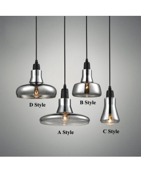 Nordic modern E27 glass shadow chandelier bar dining room personality small chandelier lamps