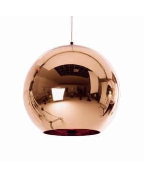 Modern Copper Sliver Shade Mirror Chandelier Light E27 Bulb LED Pendant Lamp Modern Christmas Glass Ball Lighting