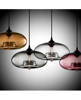Vintage Industrial Edison Pendant Ceiling Lamp LOFT Colorful Glass Droplight