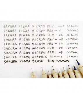 9PCS Sakura Micron Fine Liner Brush Art Drawing Set & Signature Drawing Ink Pens