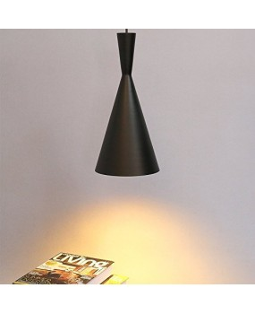 Glighone Vintage Pendant Ceiling Light Retro Industrial Pendant Light Black Metal Shade Art Pendant Lamp