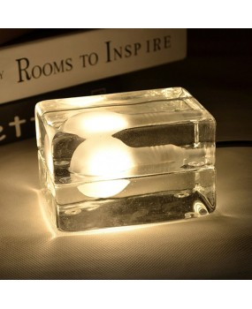 Ice Block Cube DIY Table Lamp Floor Lighting Bulb Living Room Home Decoration
