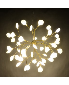 Modern Pendant Lights for Home Living Creative Art Deco Tree Branch LED Firefly Droplight Decoration Pendant Loft Lamp