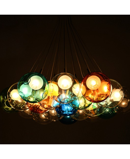 Bocci Colorful Glass ball pendant lamp chandelier of colorful glass spheres modern lamp Color Bubble