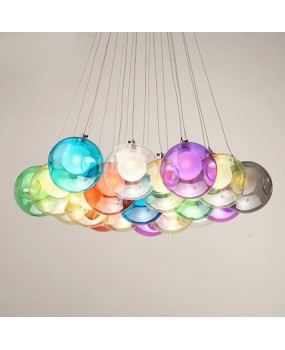 Bocci Colorful Glass ball pendant lamp chandelier of colorful glass spheres modern lamp Color Bubble