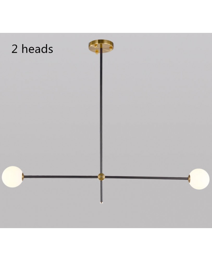 Nordic Lamps Modern Pendant Light Restaurant Living Room Glass Ball Magic Beans Creative Molecular Lights Personality Study Bedroom Chandelier