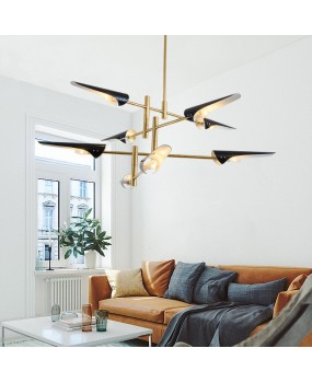 Modern Nordic industrial style living room style iron pipe cutting pendant lamp personality fashion design chandelier