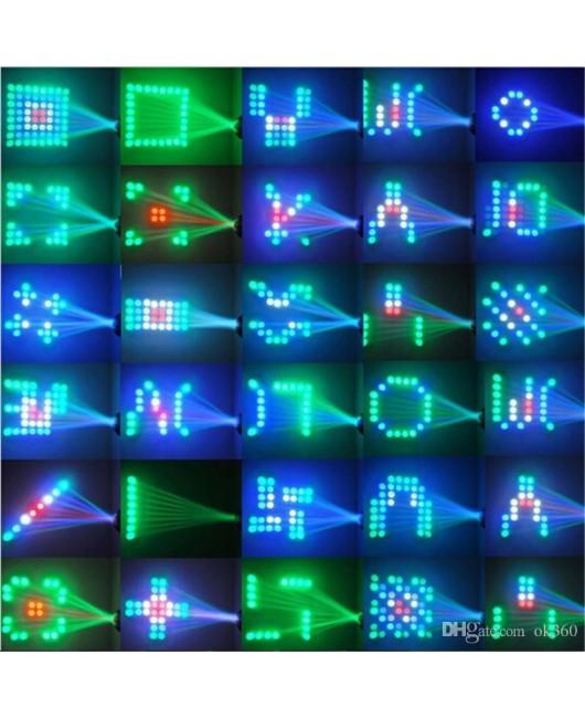 64 LED Eyourlife DJ Disco Light Sound-actived RGBW Stage Light Music Show for DJ Party KTV Club Bar Effect light Holiday laser light