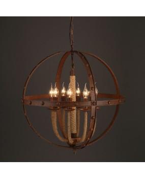 Vintage ball rope industrial pendant lamp