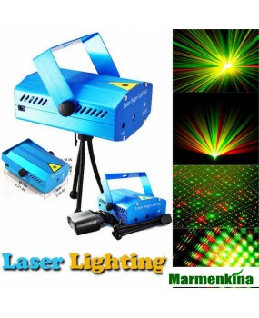 150mW Green&Red Laser Blue/Black Mini Laser Stage Lighting DJ Party Stage Light Disco Dance Floor Lights
