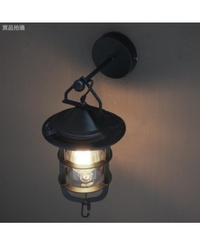 Loft RH American village retro industrial wind garden living room restaurant bar dock wall lamp
