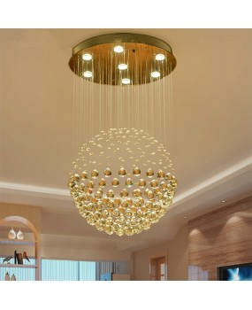 Ball crystal chandelier LED living room ceiling lamps creative bedroom chandeliers