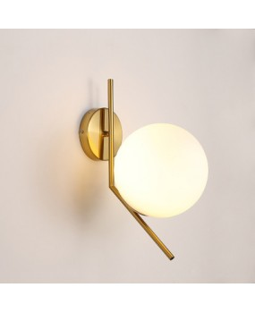 Nordic post-modern glass ball wall lamp living room bedroom bedside balcony corridor aisle iron personalized creative lamps