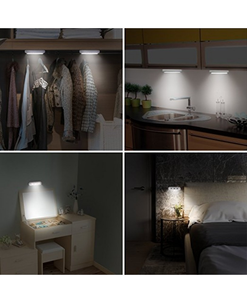 4 LED Touch Tap Light,Closet Lights,Touch Light,Stick On Anywhere Push Light,Cordless  Touch ...