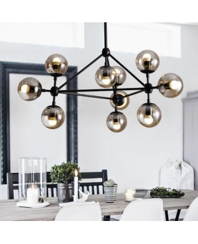Magic round glass 10 balls Vintage hanging light LED industrial beans droplight