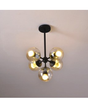 Magic round glass 5 balls pendant lamp Vintage hanging light LED industrial beans droplight