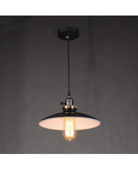 Vintage Black Ceiling Lamp Dining Room Lighting Fixtures Bar Metal  Pendant Light