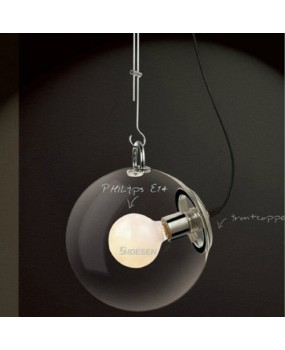 DIY Ceiling Lamp Clear Glass Ball Pendant Lighting Bulb Home Cafe pendant lamp