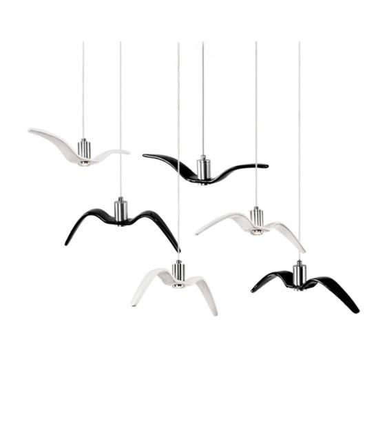 Brokis Night Birds silhouette sky freedom bird Seagull pendant lamp Resin