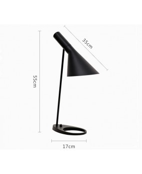 Louis Poulsen AJ Table Lamp for Bedroom/Living Room/Office Metal Black/White
